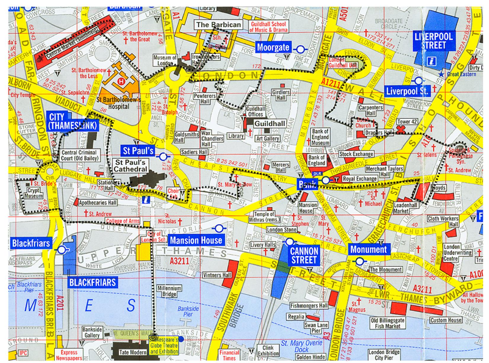 London Tour Map.Eden Project