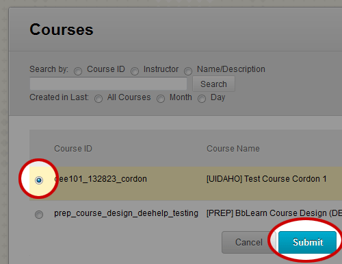 Copy Test / Pool to another Course (Instructor Help)
