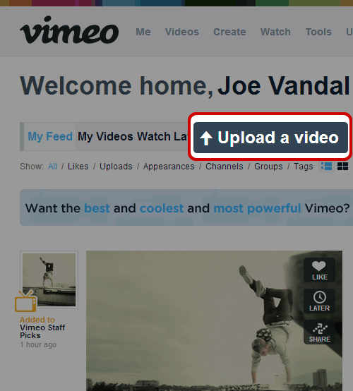 Watch Password Protected Vimeo