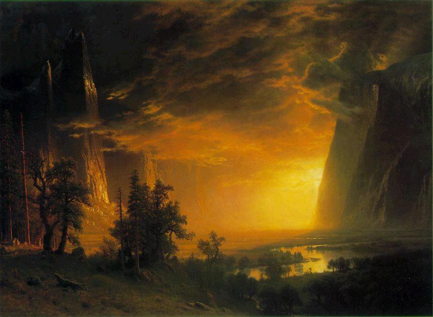 albert bierstadt romanticism Albert bierstadt, a german born american painter, was part of the hudson river  school which favoured a romantic interpretation of landscape, often illuminated.