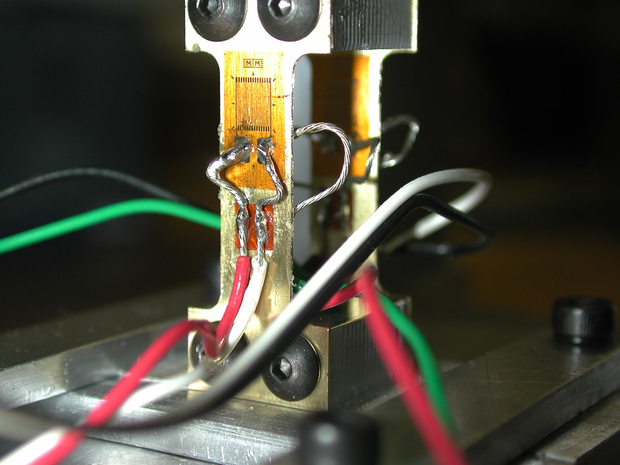 Shear Stress Sensors Strain Gauge Wiring Flexure Beams With Gauges