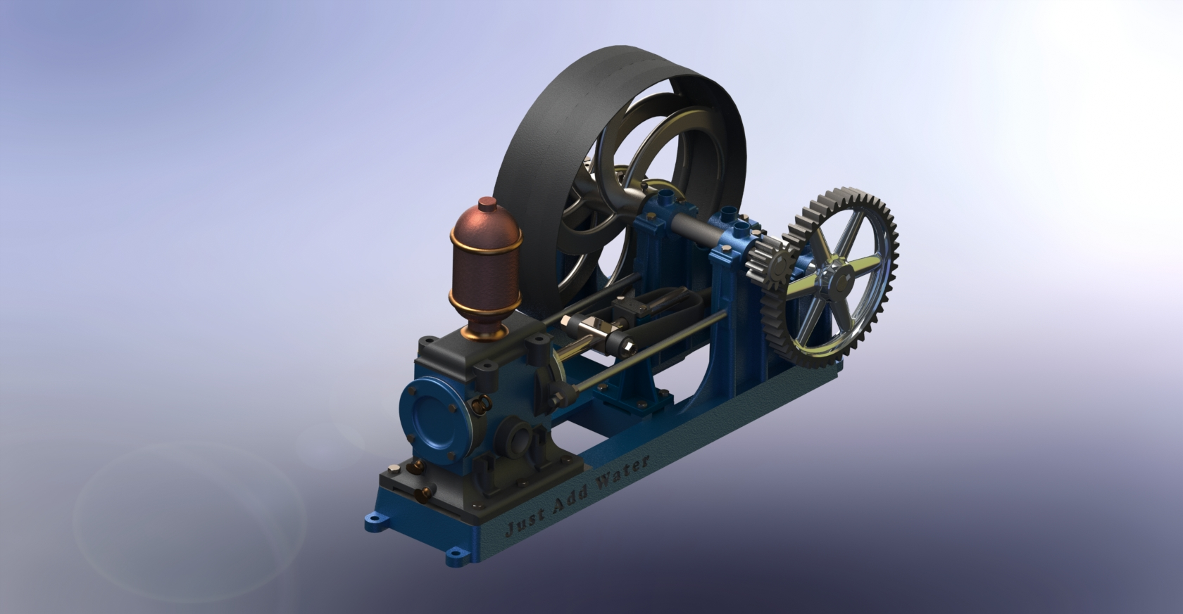 Past projects belt driven water pump spring 2014 solidworks 2013 baditri Image collections