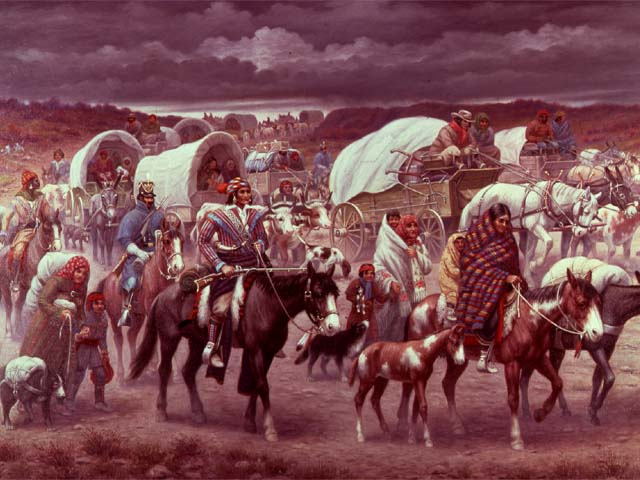 Trail of tears forced removal to oklahoma territory despite u s