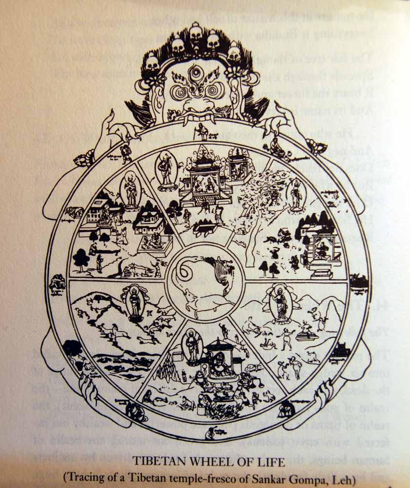 Bhavacakra tibetan wheel of life from a tibetan temple fresco of sankar gompa leh biocorpaavc Images