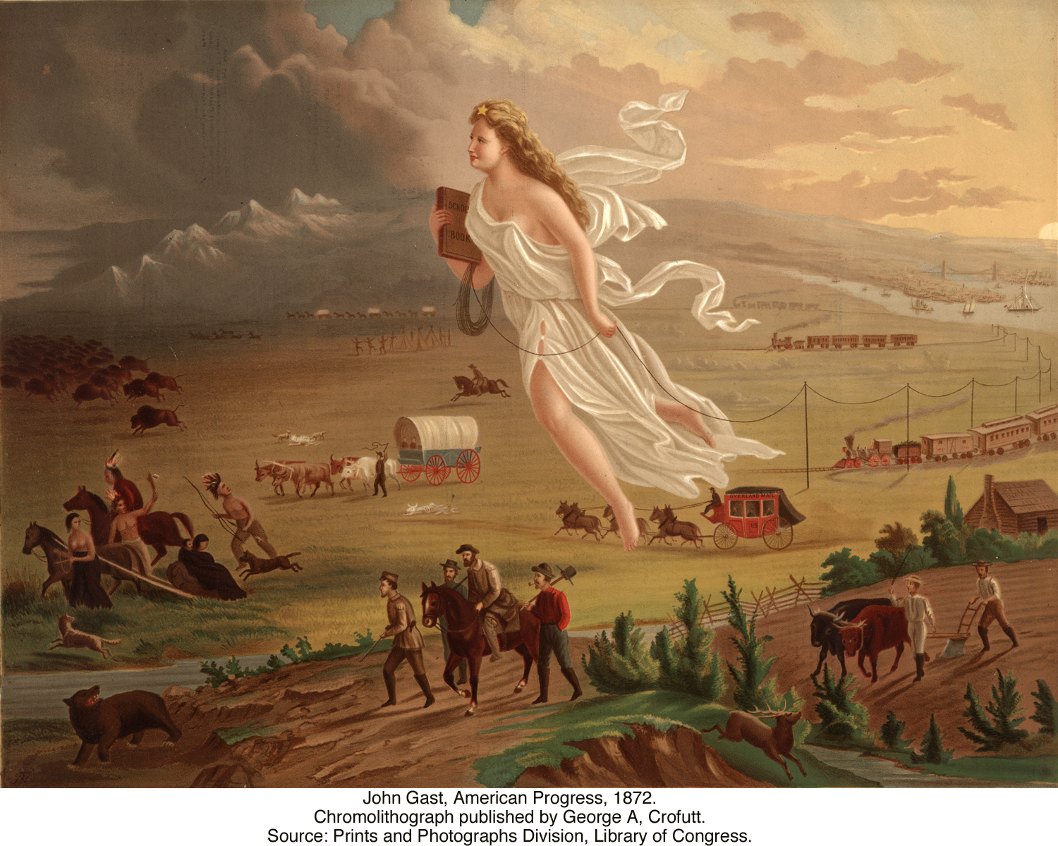 an analysis of the idea of manifest destiny in john gasts painting american progress The american progress, painted by john gast in 1872, is a representation of the manifest destiny the manifest destiny was the idea ideas the painting.
