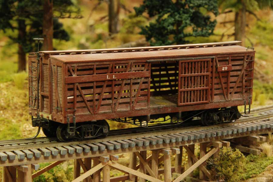 Old Wooden Cattle Rail Cars
